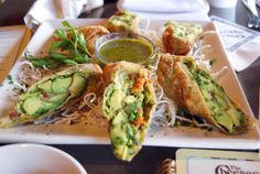my dad's all-time favorite thing at Cheesecake Factory-- avocado egg rolls. wonder if I could bake them instead.