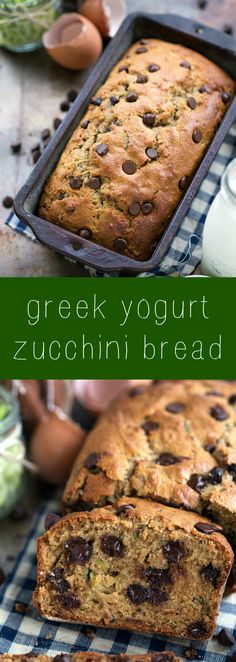 Healthier Greek yogurt zucchini bread - no sacrificing flavor, but lots of healthy swaps!