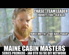 maine cabin masters cast ages