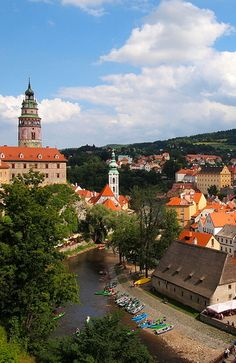 Cesky Krumlov, Czech Republic---ju, we took dad here. This is where the kids want to go rafting!