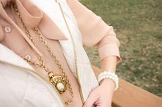 Vintage Cameo Style Locket on Double Chain by CSvintageGems
