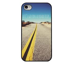 Iphone 4 4s and 5 case - quote iphone case - lets go on a roadtrip - iphone case for men - trendy  iphone case via Etsy