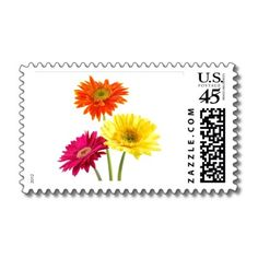 Gerbera Daisy Delight Stamps by bonfirenature
