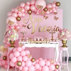 Best Baby Shower Ideas To Celebrate Mother Candidate 2019 – Page 29 of 42 baby shower ideas; baby shower ideas for boys; Idee Baby Shower, Baby Girl Shower Themes, Girl Baby Shower Decorations, Baby Shower Princess, Balloon Decorations, Birthday Party Decorations, Princess Party, Balloon Garland, Baby Shower Pink