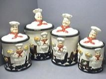Decorative Kitchen Canisters | Chef Decor For Kitchens - Houses Plans - Designs