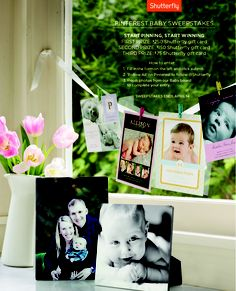 Enter Shutterfly's Pinterest Baby Sweepstakes for a chance to win.
