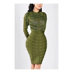 Yoins Green Sexy See-through Mini Party Dress ($33) ❤ liked on Polyvore featuring dresses, long sleeve short dress, sexy sheer dress, sexy mini dress, mini dress and long sleeve mini dress