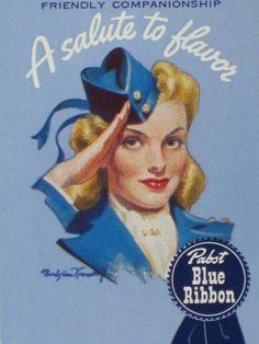 1944 Pabst Blue Ribbon Beer Bradshaw Crandell Pinup Art Playing Card Mint Oldie!