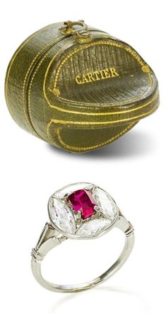 An Edwardian ruby and #diamond ring, circa 1910 ❣️ The ring belonged to the novelist, poet and gardener, Vita Sackville-West, who is best remembered for her unorthodox marriage to the writer and diplomat Sir Harold Nicolson, her affair with Virginia Woolf during the 1920s and for creating some of the most admired and influential English gardens of the 20th century. http://shardsoflondon.com/ #Jewellery