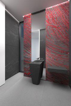 Bathroom - Iron Red granite | recommend Moscato Marmi |