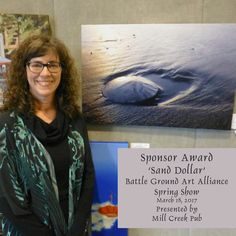 My 'Sand Dollar' photo is now an award winner. Thank you to Mill Creek Pub and the Battle Ground Art Alliance!