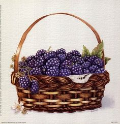 Basket with Fruit 01 B (Blueberry) . Buy any Canvas Art Print,Framed Art,Poster and Photo Print at Great Prices, Retail and Wholesale Satisfaction Manufacturer and Supplier. L'art Du Fruit, Fruit Art, Fruit And Veg, Fruit Clipart, Food Clipart, Blackberry Raspberry Recipes, Canvas Art Prints, Fine Art Prints, Pomegranate Art