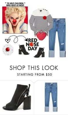 """Red Nose Day: Did You Do Something Funny For Money?"" by idocoffee ❤ liked on Polyvore featuring Dolce Vita, Zara, Saint James and Marc Jacobs"