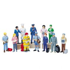 Block-Play Occupational figures - 12 piece at CPtoys.com Want for play room