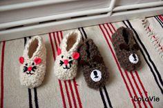 LoLovie: Easy crocheted slippers