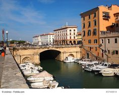 Canal of Livorno, Italy - A canal boat trip around the town is a great way to explore the city from a different perspective and see that Livorno is more than a key port of access to Florence and Pisa, but a charming and unforgettable city in its own way.