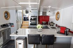 Businessman sells two-bed London home and buys houseboat One Bedroom Flat, Two Bedroom, Small Wet Room, Luxury Houseboats, Houseboat Living, L Shaped Sofa, Tiny House Movement, Al Fresco Dining, Rustic Design