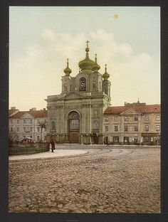 Russian church, Warsaw, Poland. 1900. Source: U.S. Library of Congress.