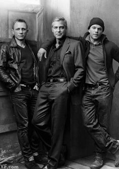 "classyartgallery: ""  Daniel Craig, George Clooney and Matt Damon , Vanity Fair, 2012 by Annie Leibovitz """