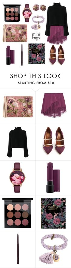 """""""Twilight Garden"""" by margoth-mirror ❤ liked on Polyvore featuring Sam Edelman, Michelle Mason, Golden Goose, Malone Souliers, Ted Baker, MAC Cosmetics, Ettika and Chanel"""