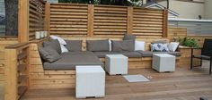 Montreal Outdoor Living – Urban Backyard Patio & Terrace in Hampstead Deck Seating, Built In Seating, Garden Seating, Outdoor Seating, Outdoor Spaces, Outdoor Living, Outdoor Decor, Deck Benches, Patio Bench