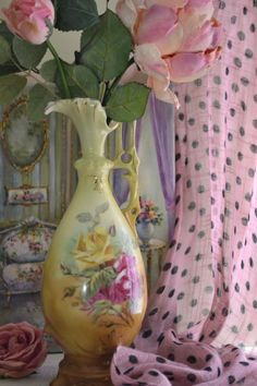 beautiful painted pitcher