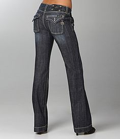 WOMEN'S MISS ME JEANS JP4480 GENEVA LOW RISE FLAP POCKET WIDE LEG ...