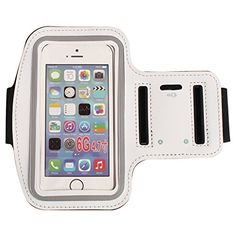 Sport & Running & Jogging & Gym Armband Case Cover Holder for iPhone 6 Inch, Water Resistant & Sweat Proof & Built in Key Holder Slot (White) Buy Iphone, Iphone Se, Iphone 8 Plus, Clock Games, Gift Card Balance, Gliders, Ipod Touch, 6s Plus, Usb