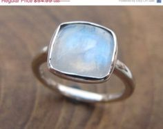 Mothers Day Sale Stack Moonstone Ring- Stackable Ring- Square Stone Ring- Stone Ring- Gemstone Ring- Rainbow Ring- Bezel Ring
