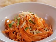 Get Pasta with Tomato Cream Sauce Recipe from Food Network