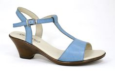 UeberGruvi Pearse Blue Hand paint Genuine Leather Medium Heel Sandal R 769. Handcrafted in South Africa. Code: Adel 101
