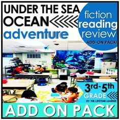 Learn more about life under the sea with this cool reading classroom transformation ADD ON PACK! You're now an under the water explorer! Use this fun ocean-themed pack of reading skills to spiral review other FICTION skills during your room transformation! A digital version is included as well for G...
