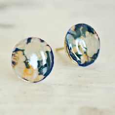 You won't believe what these stud earrings are made out of! You have this laying around your house right NOW! Super easy to make!
