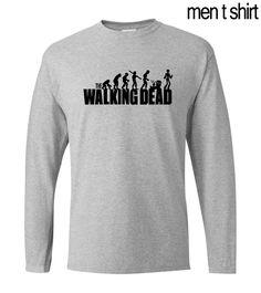 The Walking Dead hip hop style long sleeve men's t-shirts 2017 autumn new 100% cotton loose men t shirt men's sportwear for fans #Affiliate