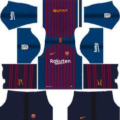 d5c7cbd1457 Barcelona 2018-2019 Kits   Logo (and older kits) - Dream League Soccer
