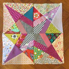 One block for Month 3 of Delilah BOM #delilahquilt #jenkingwelldesigns