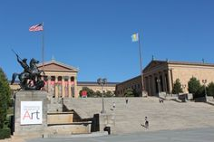 rocky steps, philadelphia Rocky Steps, Philadelphia, Road Trip, Street View, Canada, Mansions, House Styles, Mansion Houses, Manor Houses