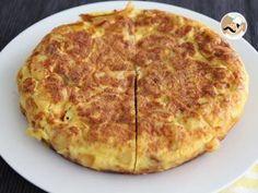 Tortilla espagnole pommes de terre et oignons, Recette Ptitchef