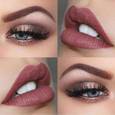 Labios irresistibles que combinen con ojos increíbles #Lips #Eyes #Maquillaje #Makeup #Style #Beauty