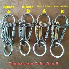304Stainless Steel Spring Carabiner Snap Hooks Keychain Quick Link Lock BuckletY