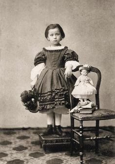 vintage little girl with doll - Google Search