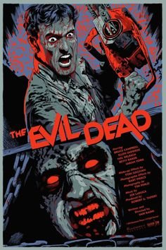 """francavillarts: """"THE EVIL DEAD ScreenPrint poster art by Francesco Francavilla EXCITED to finally reveal this! I provide a movie poster art for a classic of Horror movies, Sam Raimi's Cult THE EVIL. Horror Movie Posters, Horror Films, Film Posters, Fan Poster, Movie Poster Art, Print Poster, Arte Horror, Horror Art, Real Horror"""