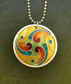 Could this inspire a round quilt? contemporary cloisonne jewelry - Google Search