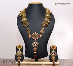 Gold Jewellery Design, Antique Jewellery, Gold Jewelry, Chandraharam Designs, Photo Jewelry, Fashion Jewelry, Indian Gowns Dresses, Rakhi, Ahmedabad