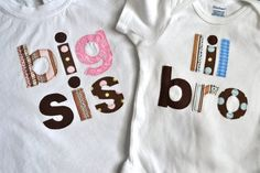Big Sister/ Little Brother/ Big Brother/ by SweetThingsforBaby, $44.00