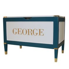 Great Classic Toy Chest for Boys!  - Gramercy Personalized Toy Chest from PoshTots