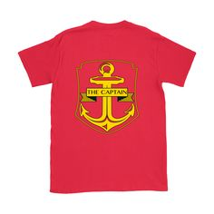 The Captain Tee is a must have for any experienced vessel operator. The distinguished anchor crest is a timeless symbol, letting everyone on board know who is i Saint Lawrence River, Anchor, Crew Neck, Island, Tees, Mens Tops, Collar Pattern, Block Island, T Shirts