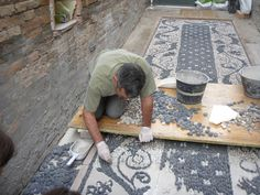 Luciano Bonzini mosaics | Risseu, the cobblestone mosaic pavement, can be found throughout Liguria, Italy