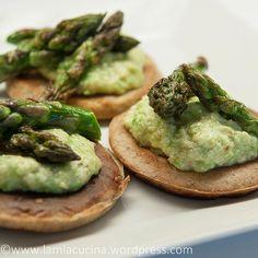 Blini with Asparagus