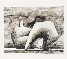'Reclining Figure 10', Drawing by Henry Moore (1898-1986, United Kingdom)